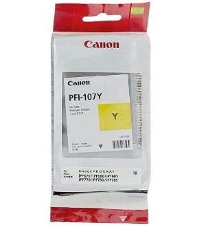 Чернильный картридж Canon PFI-107 Y 90мл