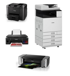 Вся линейка цветных струйных принтеров и МФУ (А4, А3)
